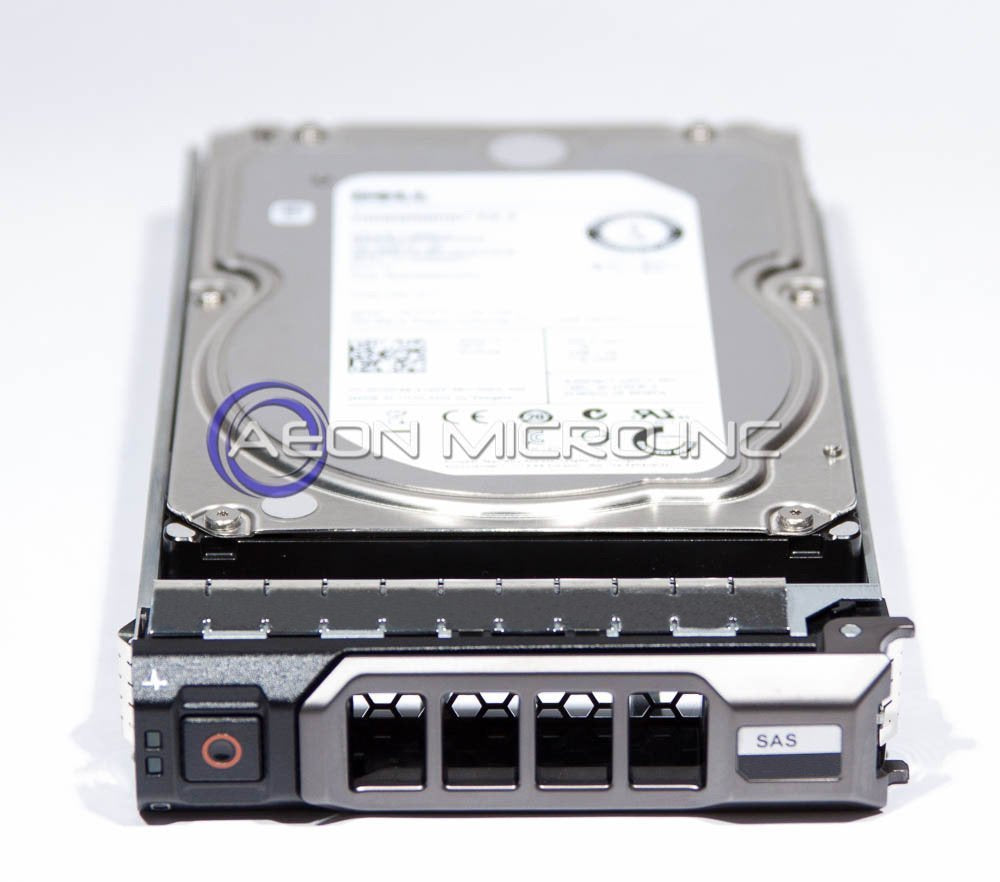 Dell 4TB 7.2K 6Gbps 3.5'' SAS Hard Drive with 3.5'' R-Series Tray for PowerEdge R310, R410, R510, R710, T310, T410, T610, T710
