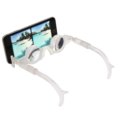 2VR - Clear - Virtual Reality Glasses - Thin Mobile Hands Free - 3D Glasses- For Smart Phones iPhone + Android