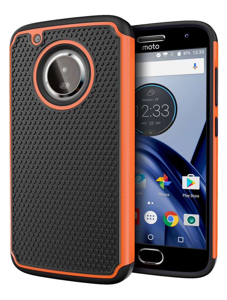 Moto G5 Plus Case, Cimo [Shockproof] Heavy Duty Shock Absorbing Hybrid Protection Cover for Motorola Moto G5 Plus (2017) - Orange