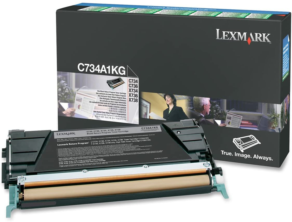 Lexmark C734A1KG C734 C736 X734 X736 X738 Toner Cartridge (Black) in Retail Packaging