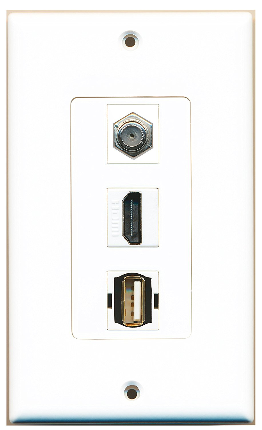 2-Pack Conwork QuickPort Decora Wall Plate Insert for 4-Port Keystone Jack