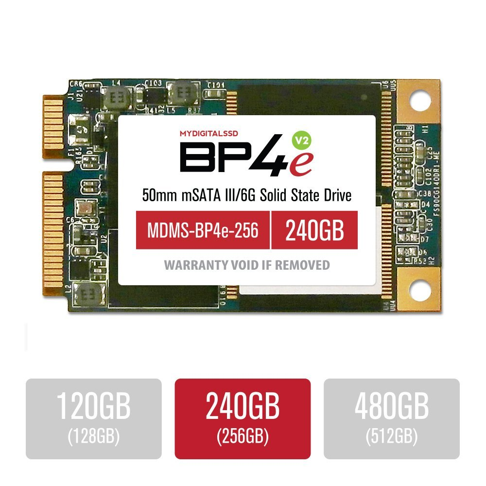 MyDigitalSSD 240GB (256GB) Bullet Proof 4 Eco (BP4e V2) 50mm SATA III (6G) mSATA SSD Solid State Drive - MDMS-BP4e-256
