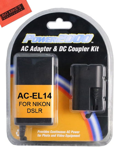 Replacement Nikon EP-5A DC Coupler and AC Adapter Kit for Nikon Coolpix P7000, P7100, P7700, P7800, D3100, D3200, D3300, D5100, D5200, D5300, D5500, DF Digital SLR Camera
