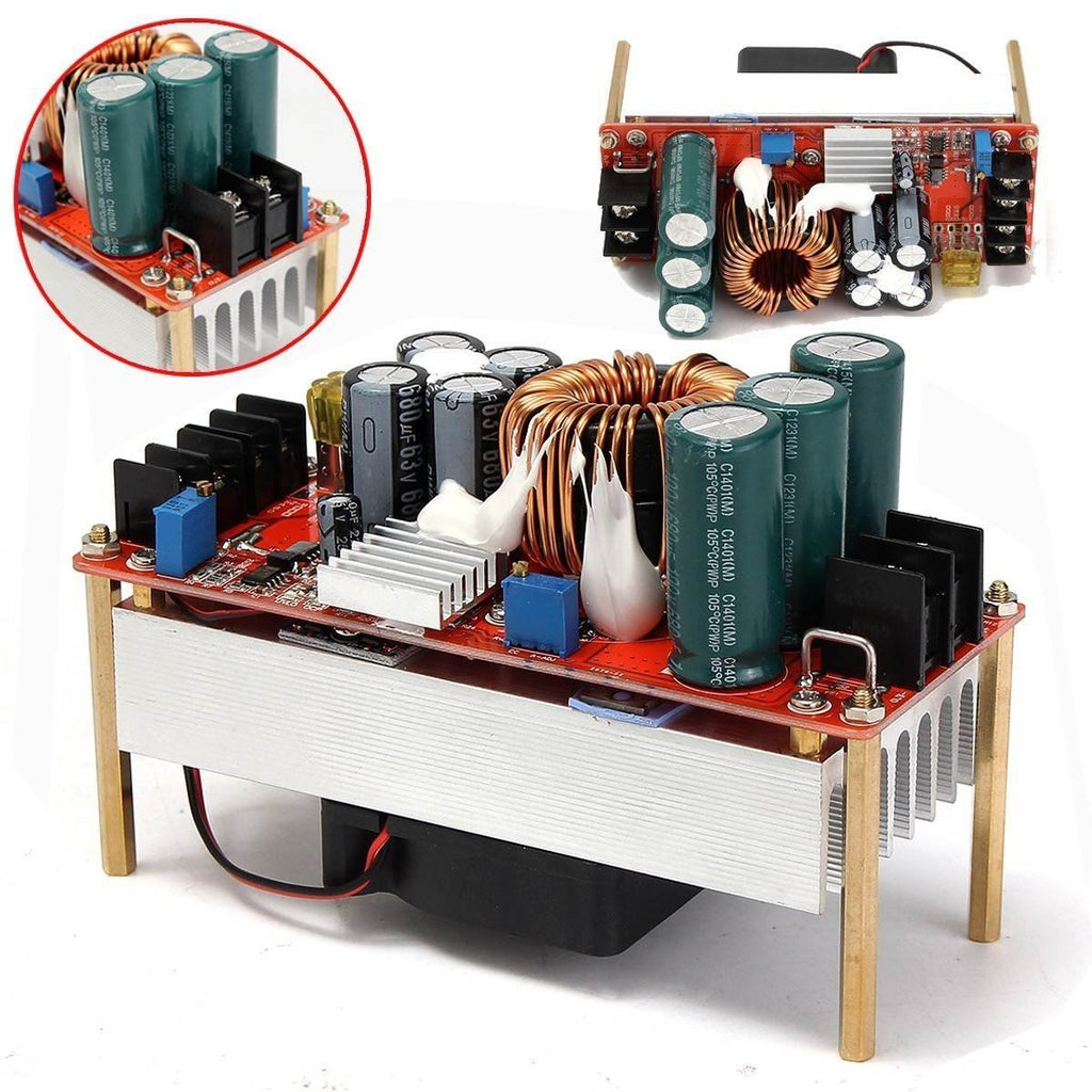 Wangdd22 1500W 30A DC Boost Converter Step-up Power Supply Module In10~60V Out 12~90V New Electric Unit Modules Module