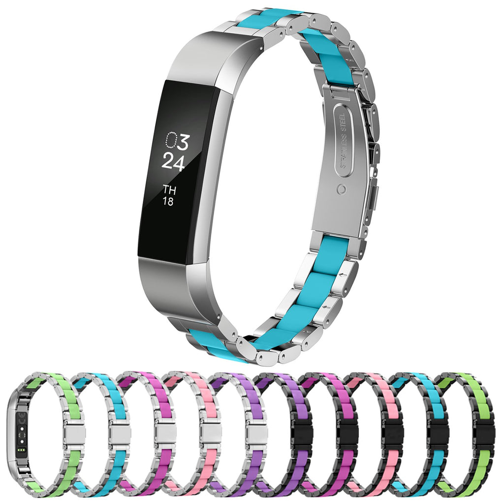 GreenInsync Fitbit Alta Bands Metal, Special Edition Fitbit Alta HR Stainless Steel Bands Adjustable Replacement Accessory Wristband Small Large for Alta Bracelet Women Men Girls Boys