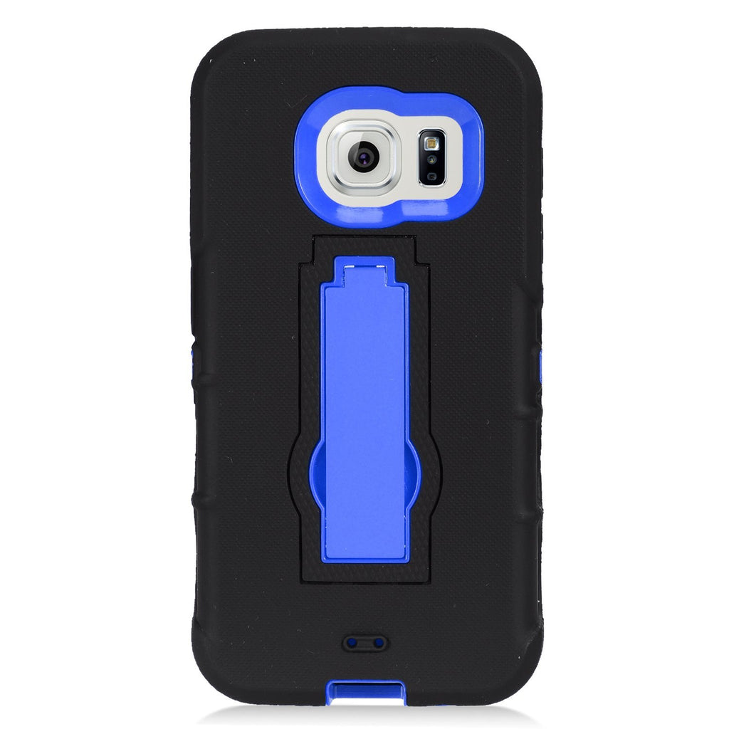 Eagle Cell Hybrid Armor Phone Case for Samsung Galaxy - Retail Packaging - Blue/Black