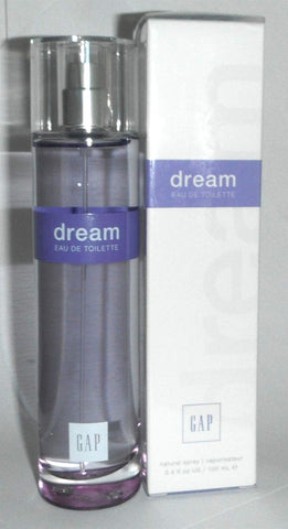 The Gap Dream Originla Eau De Toilette Perfume Spray 3.4 Ounce Solid Purple Band Packaging New In Box