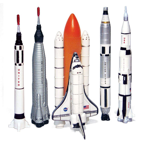 Legends of Space - America's Space Program Collector's Series - 5-Piece Replica Spaceship Rocket Set