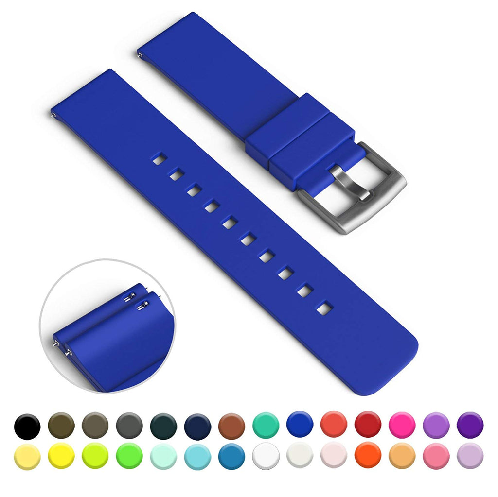 GadgetWraps 14mm Silicone Watch Strap / Band with Quick Release Pins (Cobalt Blue, 14mm)