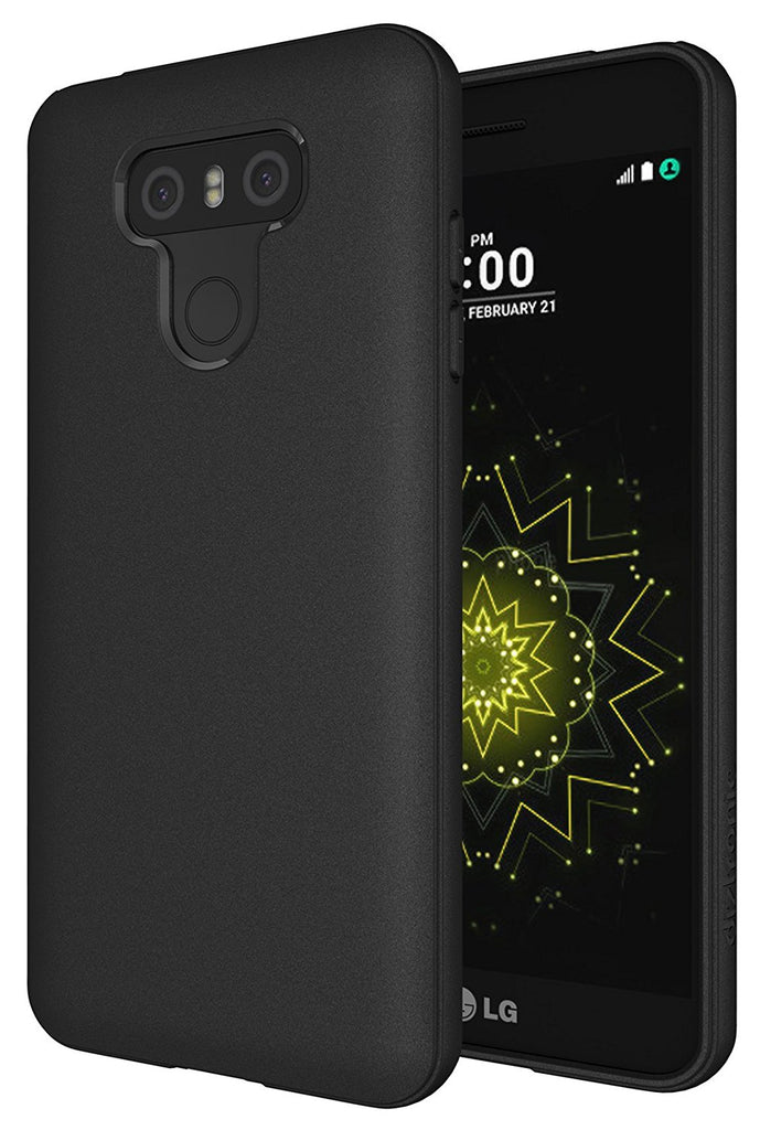 LG G6 Case, Diztronic Full Matte TPU Series - Slim-Fit Soft-Touch Thin & Flexible Phone Case for LG G6 - Black