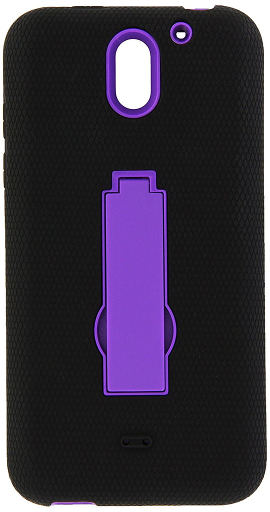 Eagle Cell Hybrid Armor Protective Case with Stand for HTC Desire 610 - Retail Packaging - ZZ0 Purple/Black