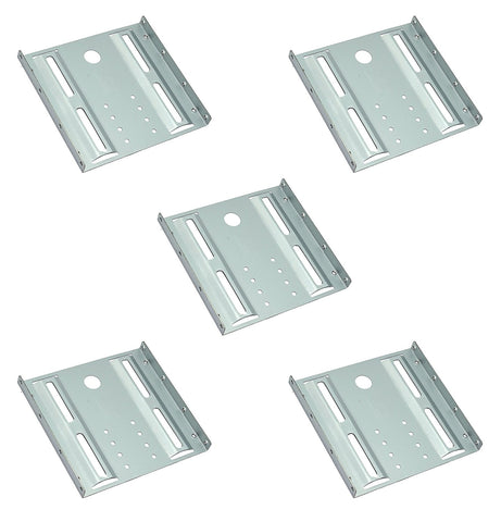 (5 Pack) 2.5 To 3.5 Bay SSD HDD Notebook Hard Disk Drive Metal Black Mounting Bracket Adapter Tray Kit - Grey (35250)