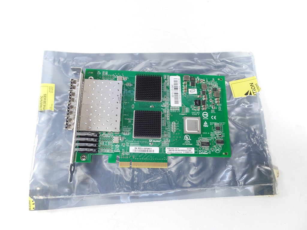 QLogic QLE2564 Fibre Channel Host Bus Adapter. 8GB QUAD PORT FC HBA PCIE8 LC MULTIMODE OPTIC FIBR-C. 4 x LC - PCI Express 2.0 - 8 Gbps