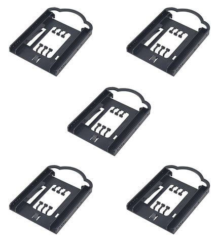 (5 Pack) 2.5 SSD HDD To 3.5 HDD/SS Plastic Bracket- Screw Less for PC HDB-125