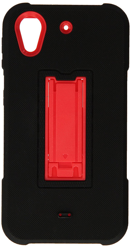 Eagle Cell Hybrid Armor Case with Stand for HTC Desire 626S/Desire 626 - Retail Packaging - EC2 Red/Black