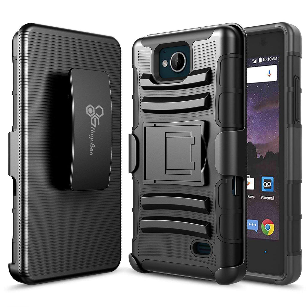 brand new b80a2 7b378 ZTE Majesty Pro Case, ZTE Majesty Pro Plus Case(2017), (Z899VL / Z798BL /  Z799VL), ZTE Tempo Case, NageBee [Heavy Duty] Armor Shock Proof [Belt Clip]  ...