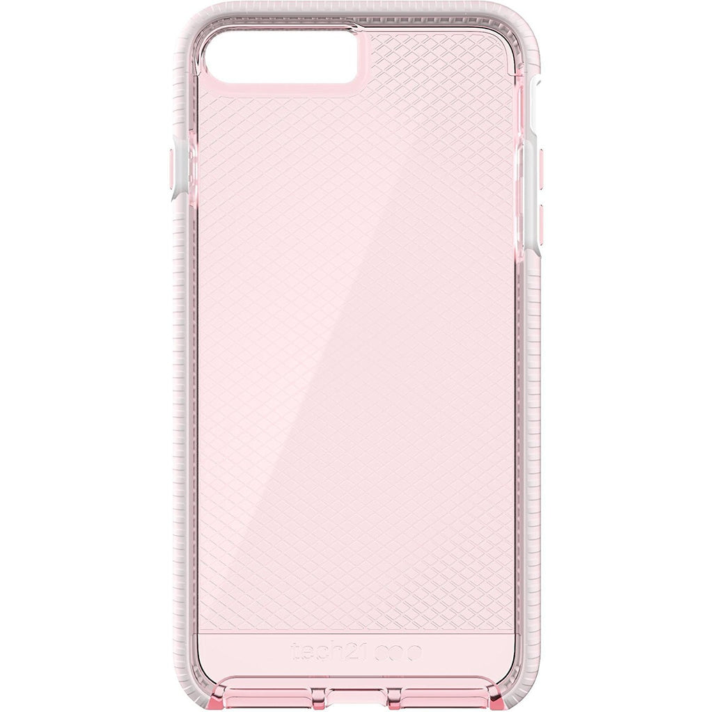 Tech 21 T21-5349 Ultra-thin & Lightweight Evo Check Case for  Apple iPhone 7 Plus - Light Rose/White