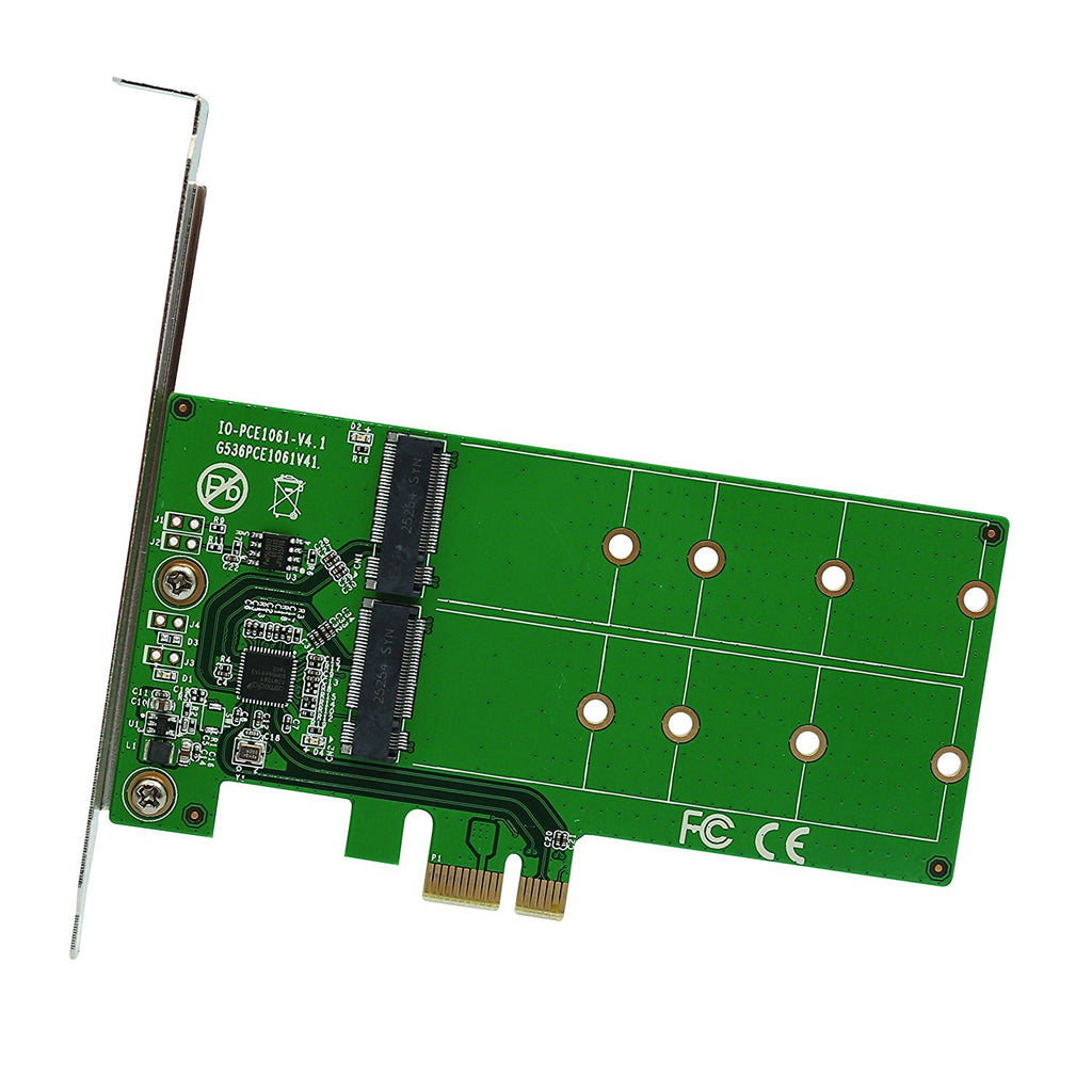 2 Port M.2 SSD to PCI-e x1 adapter B or B+M key (SI-PEX40115)