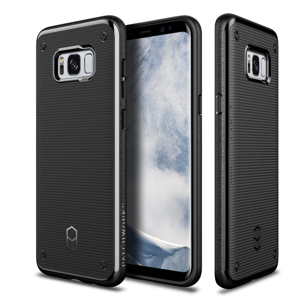 Patchworks Flexguard Case in Black for Samsung Galaxy S8 - Slim Fit Protective Case Extreme Cover with Poron XRD