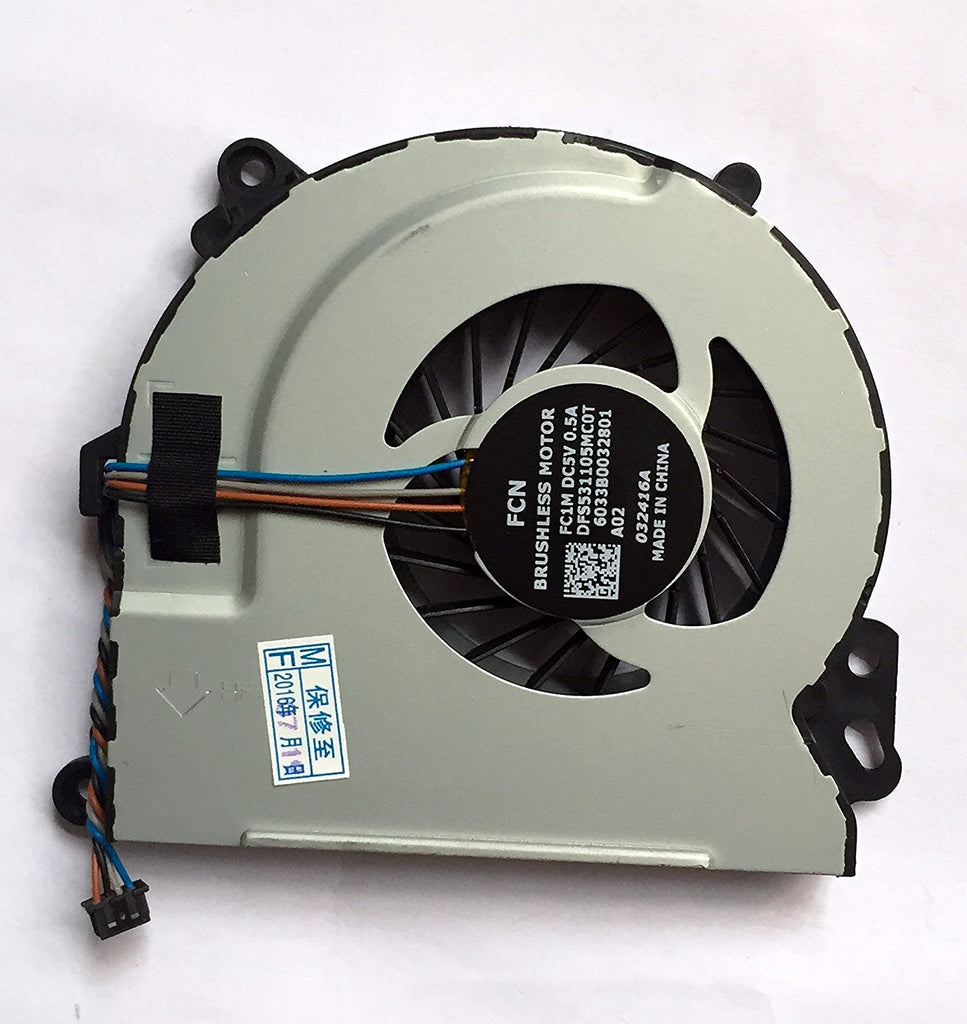 Rangale New Laptop CPU Cooling Fan For HP Envy 15 15T 17 15-J000 15-J100 15-Q000 15-Q100 M6-N000 M6-N100 M7-J000 M7-J100 720235-001 720539-001 6033B0032801 DFS531105MC0T