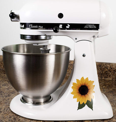 Sunflower Floral Bakery Kitchenaid Mixer Mixing Machine Decal Art Wrap