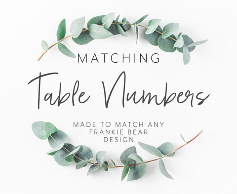 MATCHING TABLE NUMBERS