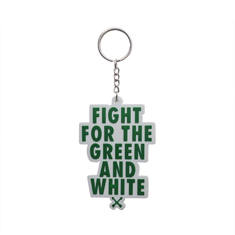 Fight for the Green and White Key Chain