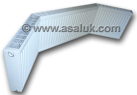 Double Angled Bay window radiator