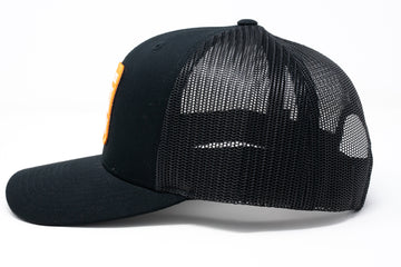 Black Ski Team Trucker Hat