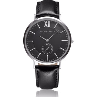 Anthony North Watches - KAJO BLACK/BLACK LEATHER