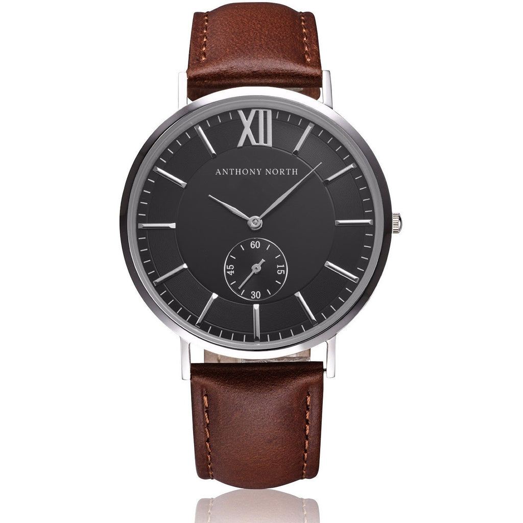 Anthony North Watches - KAJO BLACK/BROWN LEATHER