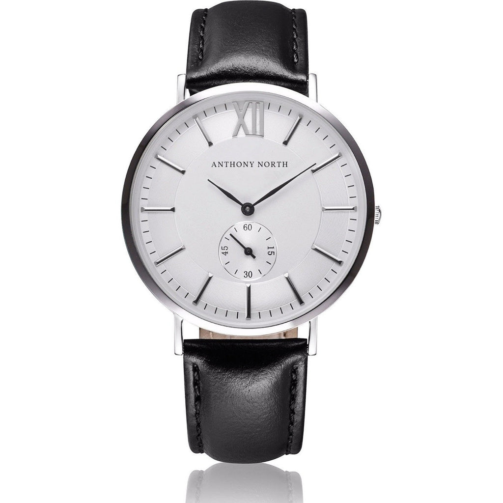 Anthony North Watches - KAJO WHITE/BLACK LEATHER