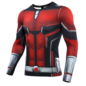 Ant Man 3D Printed Men Avengers 4 Endgame Long Compression Shirt 2019