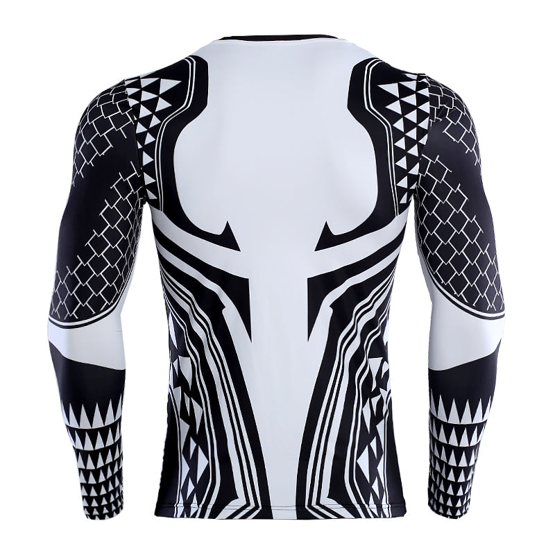 Aquaman Shirt Men's Aquaman Long Sleeve Compression Crossfit Top T-Shirt 2018
