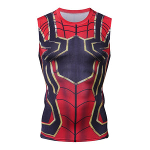 Avengers 3 Iron Spiderman Bodybuilding Fitness Compression Tank Top