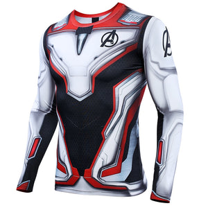 Avengers 4 Endgame Quantum War Men's Iron Man 3D Printed Compression Shirt 2019