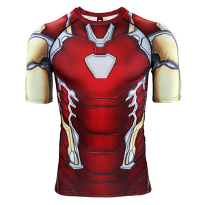 Iron Man MK85 3D Printed Avengers 4 Endgame Quantum War Compression Shirt