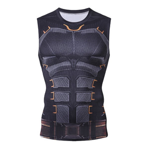 BatMan SuperHero Bodybuilding Fitness Compression Tank Top