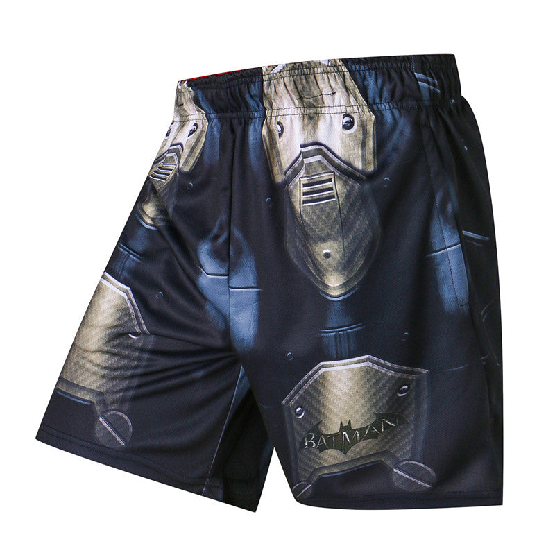 BatMan vs SuperMan Compression Shorts Quick Dry