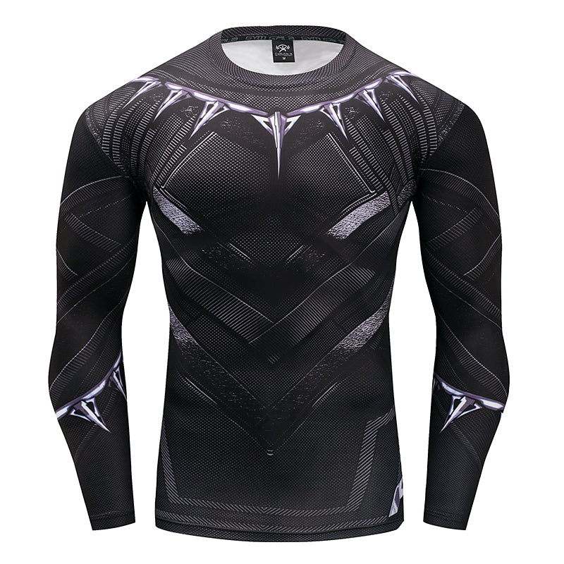 Black Panther Men's Wakanda Forever Long Sleeve Compression Shirt - Newmeup