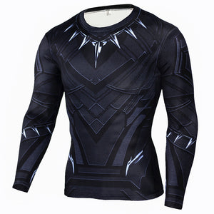 Black Panther Sleeve Compression Shirt (Black Panther 3d Tshirts) - Newmeup