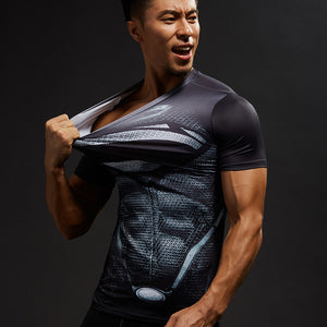 Black Superman Compression Shirt - Newmeup