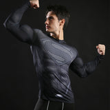 Black Superman Long Sleeve Compression Shirt (Superman 3D Tshirts) - Newmeup