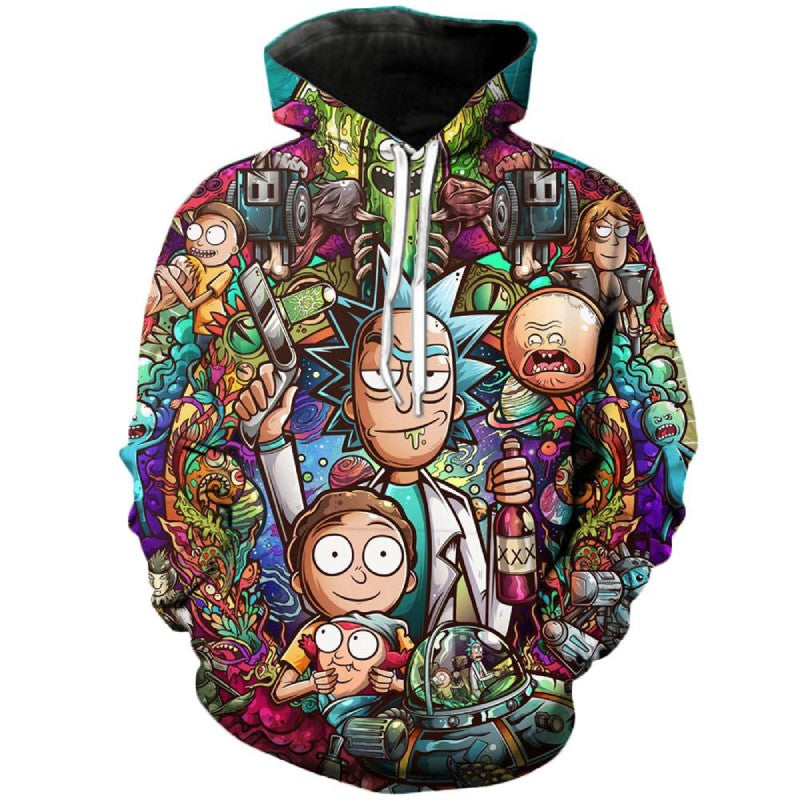 Buckle Up Morty Sweater Rick and Morty Colorful Hoodie 3D Unisex Sweatshirt
