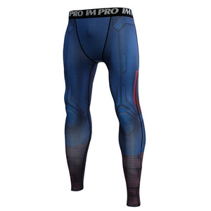 Captain American Avengers 4 Endgam 3D Printed Tights Pants Compression Men 2019