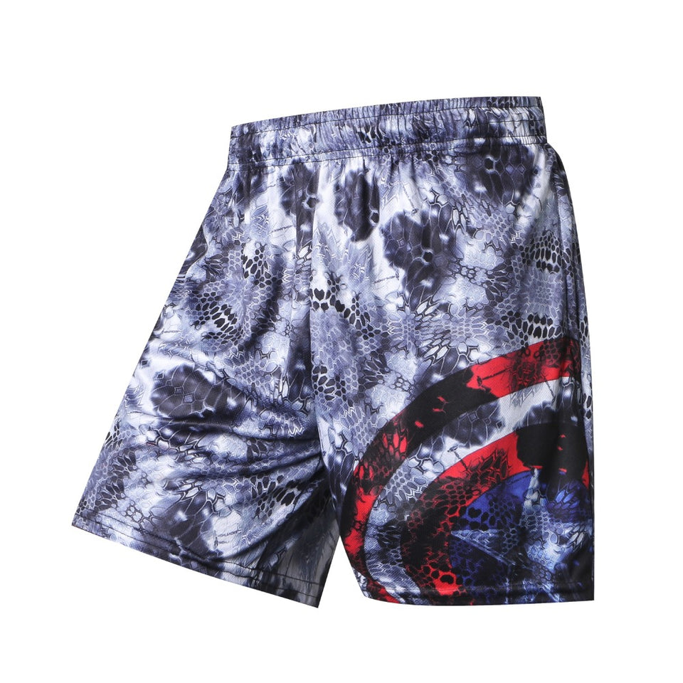Captain American Compression Shorts Quick Dry