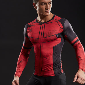 Deadpool 2 Shirt Men's Deadpool 2 Long Sleeve Compression Crossfit Top T-Shirt 2018 - Newmeup