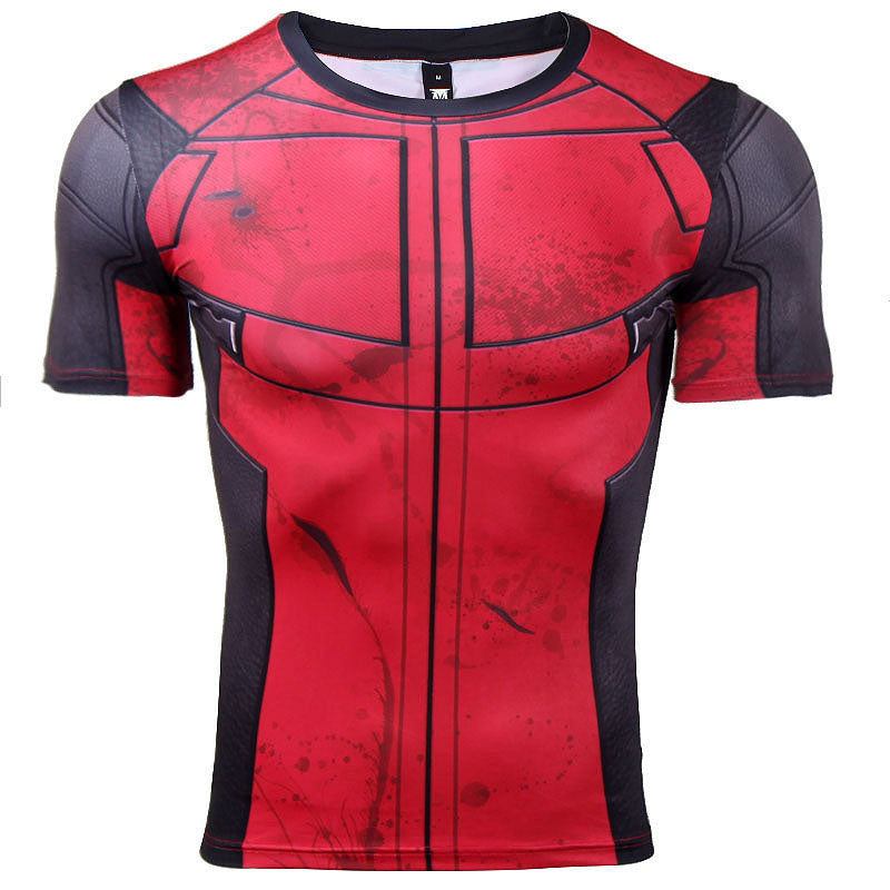 5ba5482eb9bcd Deadpool 2 Shirt Men s Deadpool 2 Short Sleeve Compression Crossfit To –  NewMeup