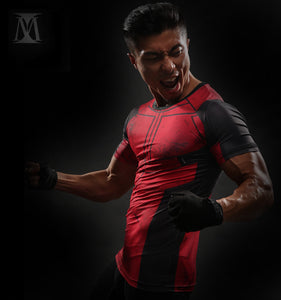 Deadpool Compression Shirt (Deadpool Short Sleeve 3d Tshirts) - Newmeup