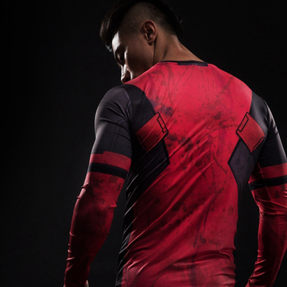 Deadpool Long Sleeve Compression Shirt - Newmeup
